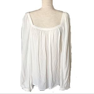 A New Day Size L Cream Blouse